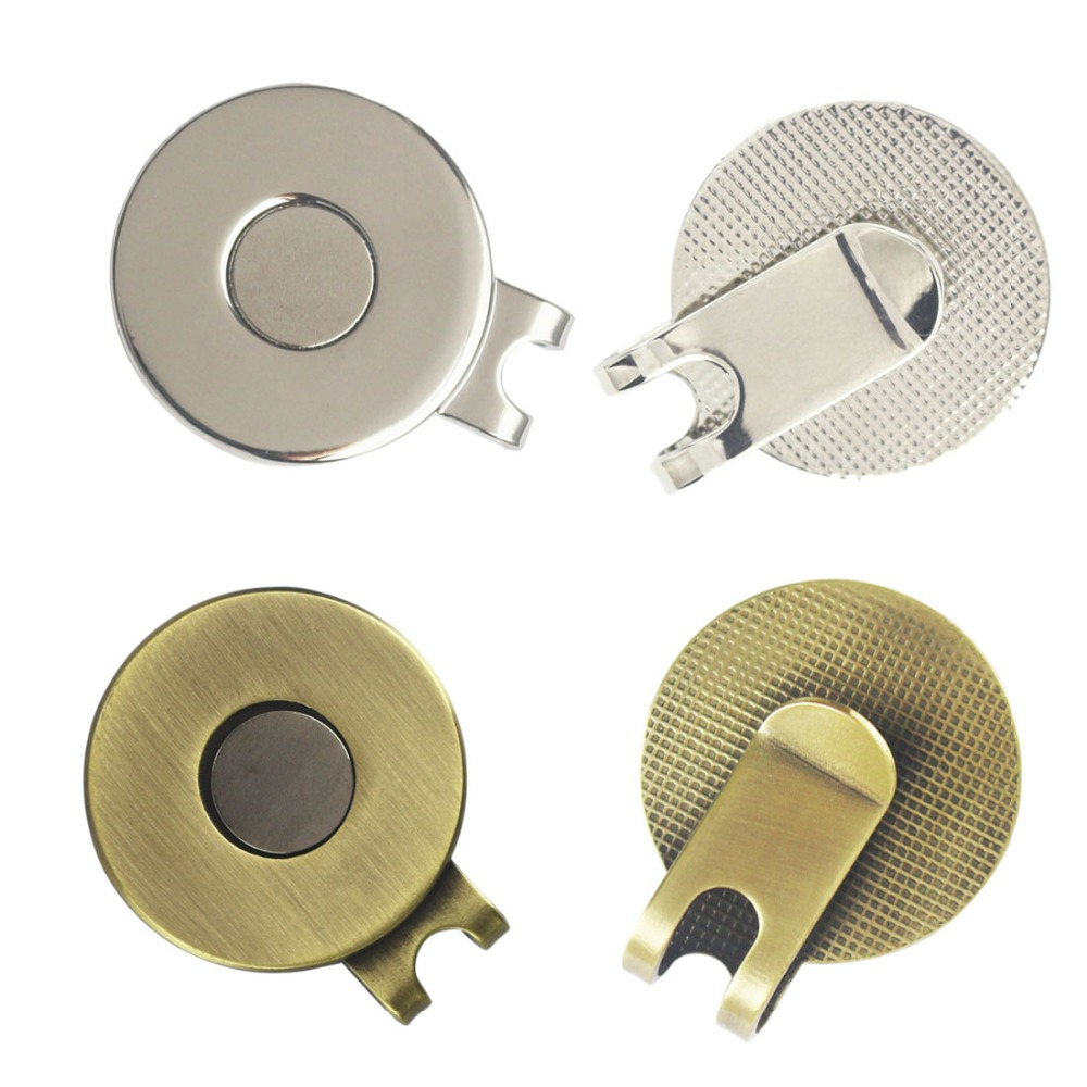 Strong Magnetic Blank Metal Golf Hat Clips Or Golf Cap