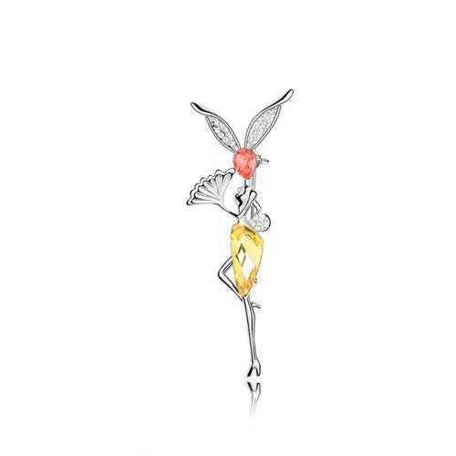 ANKA рисунок Кристалл Броши морской эльф булавка Кристалл ювелирные изделия цветы эльфы Главный Камень Кристаллы из Австрия#87560 - Окраска металла: 87555