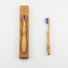 50 шт./лот детская красочные Щетины Корона экологически дерево Зубная щётка Bamboo Зубная щётка мягкой щетиной головчатого бамбуковое волокно