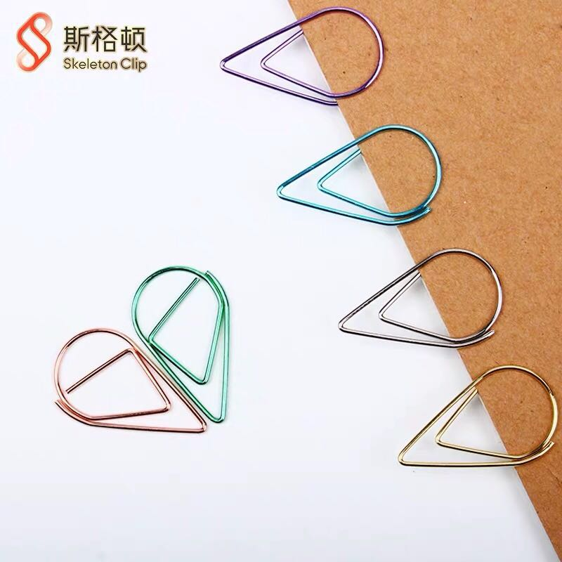 Free Shipping 25 Mm/50pcs  Paper Clips Office Organizer Paper Holder Bulldog Clip Photo Holder Clip Rose Gold Office Supplies