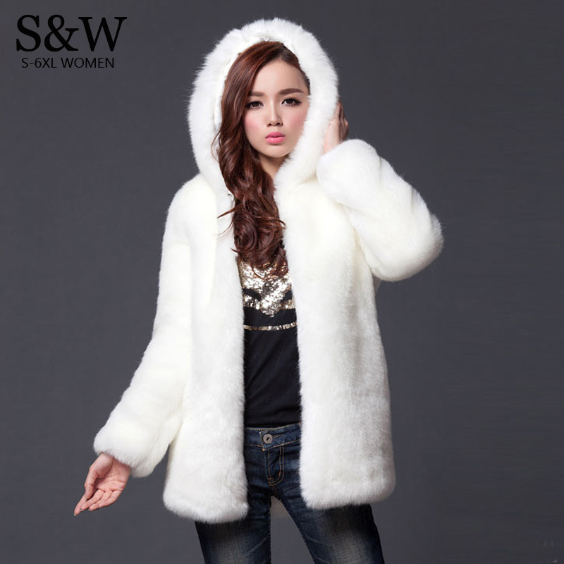 Aliexpress.com : Buy Warm Winter Thick Fur Women Faux Fur Coat ...