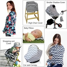 Baby Nursing Cover Infant Car Seat Canopy Breathable High Chair Trolley Cover Breastfedding Scarf Shopping Cart Cover for Baby
