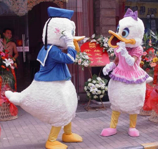 free shipping custom costumes ball Donald Duck and Daisy Mascot Costumes Cartoon dolls Imitation clothing cosplay+EPE material