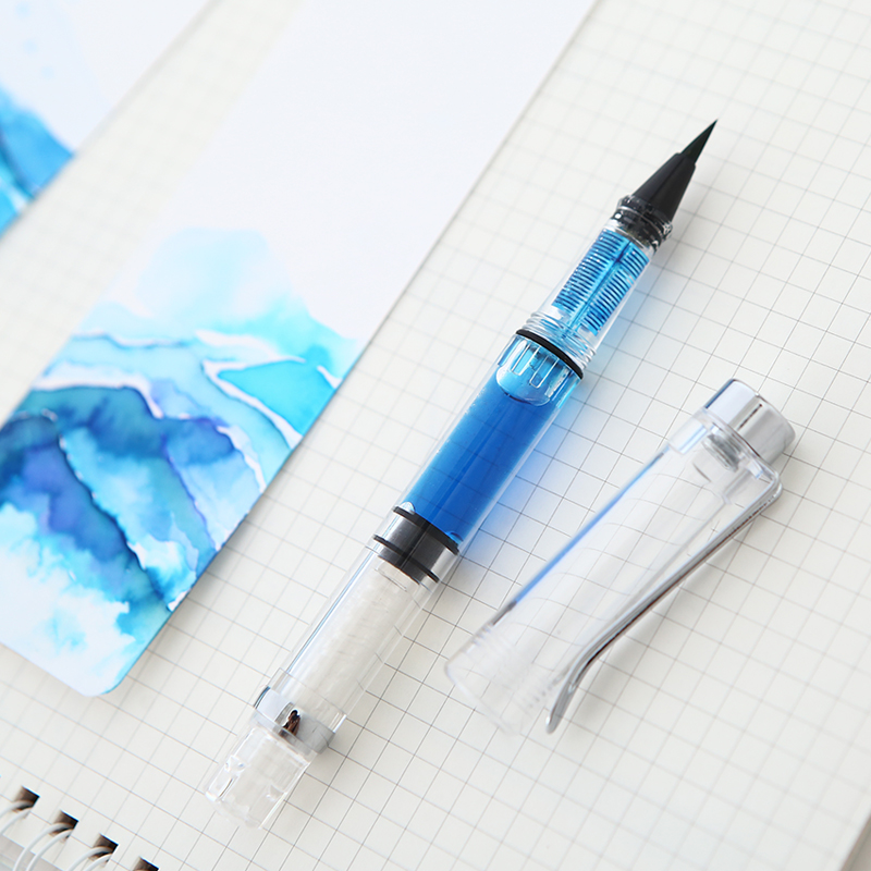 JIANWU 1pc gold powder ink Creative calligraphy fountain pen Refill brush filling DIY bookmarks scrapbook School office supplies jianwu 1pc cute creative lace ruler stencil painting diy decoration hollow template painting tool pp scrapbook manual supplies