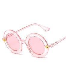 New Trend Sunglasses Fashion Retro Collision Round Box Letters Romantic Travel Unisex Small Bee