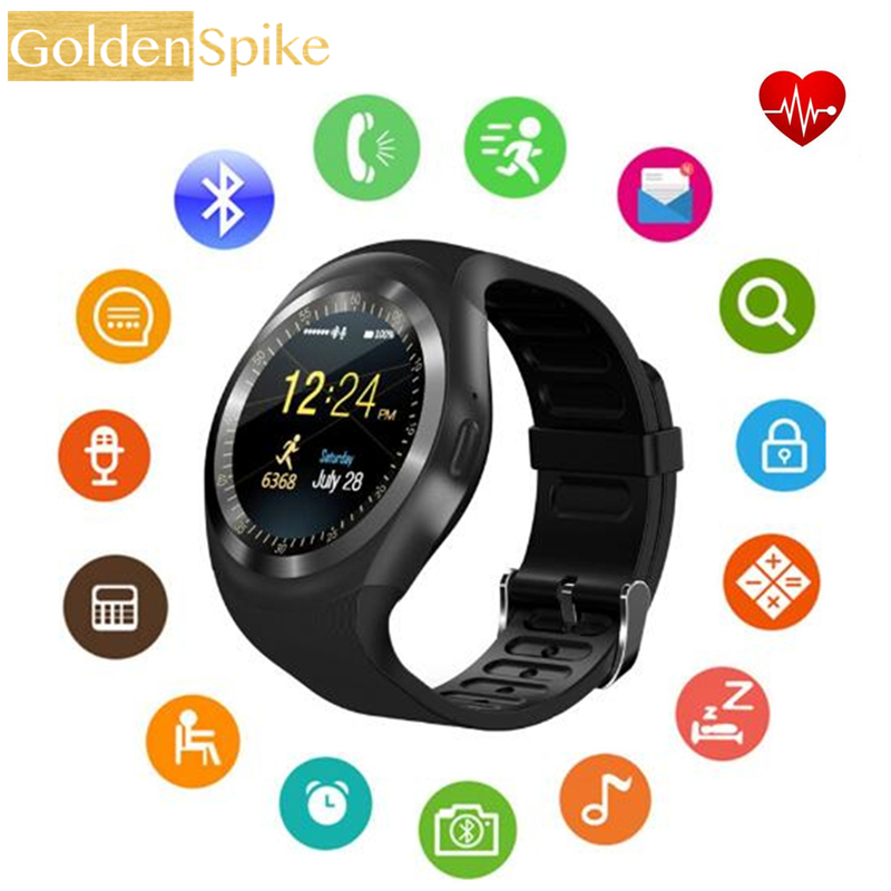Bluetooth Smartwatch Y1X Smart Watch Support Reloj Relogios 2G GSM SIM App Sync Mp3 For Apple iPhone Xiaomi Android Phones Black умные часы smart watch y1