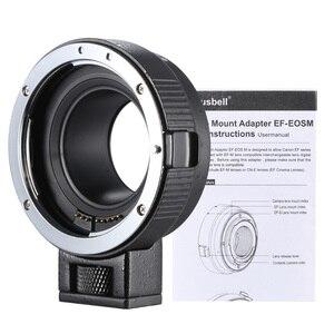Image 5 - Andoer EF EOSM anneau adaptateur pour monture dobjectif pour objectif de la série Canon EF/EF S vers EOS M EF M M2 M3 M10 Support du corps de lappareil photo stabilité de limage