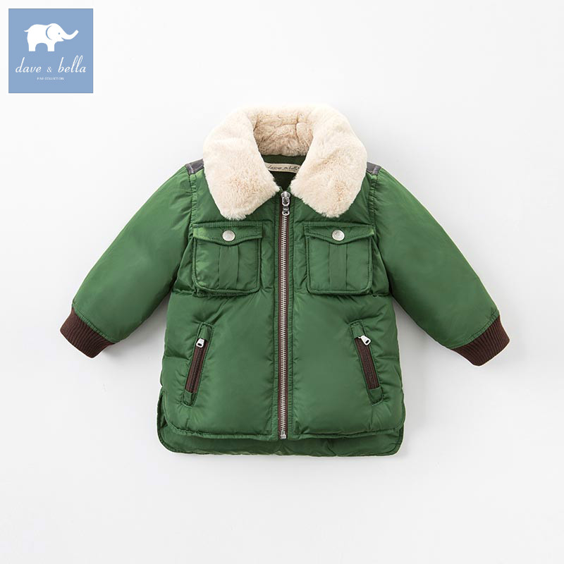 DB6323 dave bella winter baby boys down jacket children white duck down padded coat kids outerwear ariete 6323 stiromatic 3700