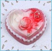 Jour de Valentine DIY coeur/fleur forme savon à la main moule bougie moules en silicone moule Bonbons Au Chocolat Moules Forme de gâteau