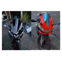 Мотоцикл двойной пузырь лобовое стекло ветер экран для 2009- Aprilia RSV4R RSV4 R RS4 125 50 дым черный Иридий