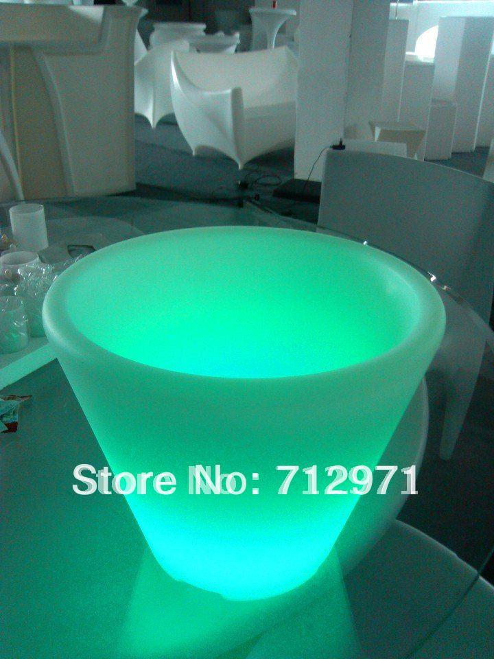 Open discount LED rave party E-icebucket Christmas decorative louminous bucket /LED novelty pail with 3 pcs champagne harlem hl 956 convenient folding outdoor pvc pail bucket translucent white green 10l