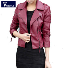 2016 Spring Autumn Women Leather Jacket Oblique Zipper Motorcycle Trendy Casual Faux Leather Solid Color Coat Plus Size 4XL