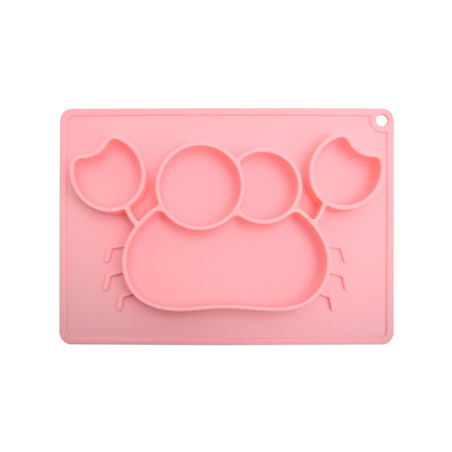 Children's Silicone Crab Shaped Plate