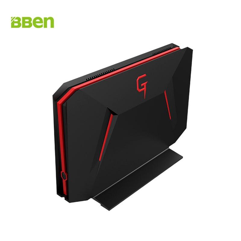 BBEN GB01 Mini PC Windows 10 Intel I7 7700HQ NVIDIA GTX1060 8GB RAM + 128G SSD + 1T HDD DP WiFi PC Mini Gaming Computer