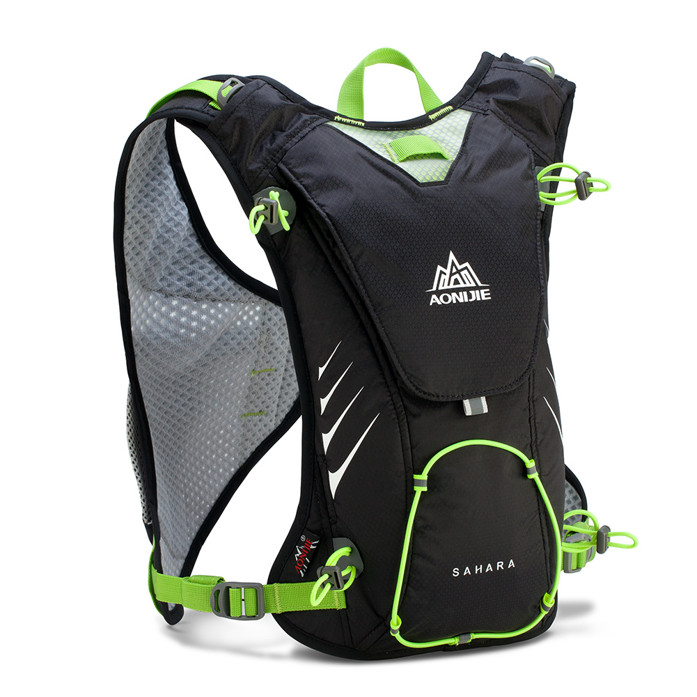 AONIJIE 8L Lightweight Breathable Running Vest Bag Close Body Marathon Reflect Strap Shoulder Bag