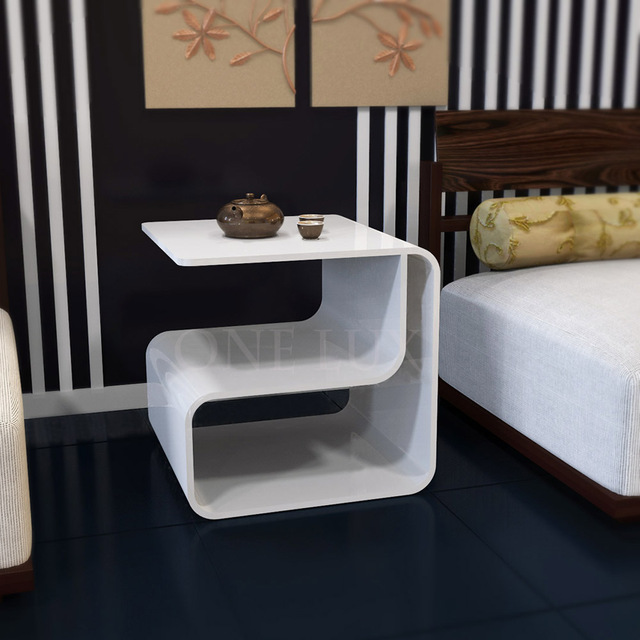 One Lux Waterfall Acrylic Lucite Lounge