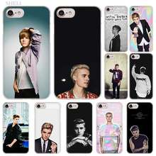 PlusFashion JUSTIN BIEBER de moda funda de carcasa transparente para iPhone XI R 2019 XS Max XR X 4S 5S SE 6 6s 7 8 Plus(China)