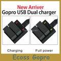Gopro AHDBT-301 carregador de bateria 302 Dual USB 2 Carregador de Bateria Para Gopro hero3/3 +/mais Acessórios