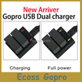 Gopro battery charger AHDBT-301 302 Dual 2 Battery USB Charger For Gopro hero3 /3+/ plus Accessories