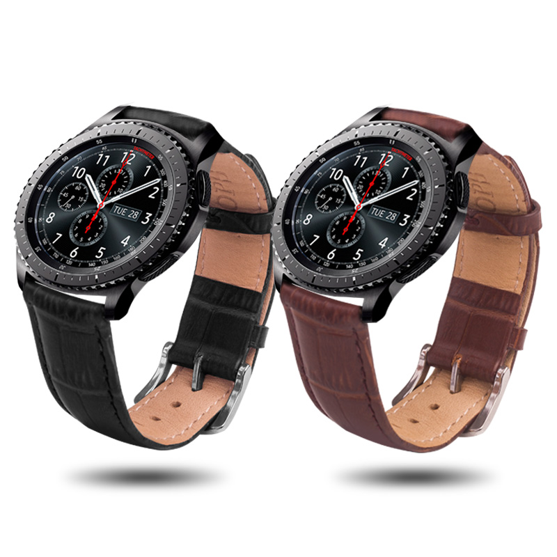 ROPS Genuine Leather Watch Strap For Samsung Gear S3/S2 Band Replacement Watch Bracelet For Gear S3 Classic frontier Smart watch rops genuine leather watch strap for samsung gear s3 s2 band replacement watch bracelet for gear s3 classic frontier smart watch