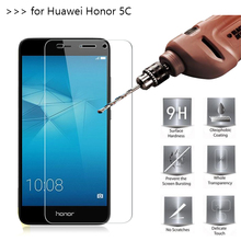 2.5D 0.26mm 9H Premium Tempered Glass For Huawei Honor 5C Screen Protector Toughened protective film *