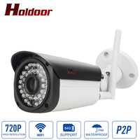 Hd Bullet 7200p Ip Camera 1mp Wifi Wireless Outdoor Waterproof IP66 Infrared Night Vision Motion Detect
