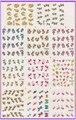 11 pack/lote etiqueta del agua del arte etiqueta engomada del clavo flor hierba de san valentín pajarita BLE697-707