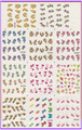 11 pacote/lote DECAL água NAIL ART NAIL STICKER flor grama dos namorados BOW TIE BLE697-707