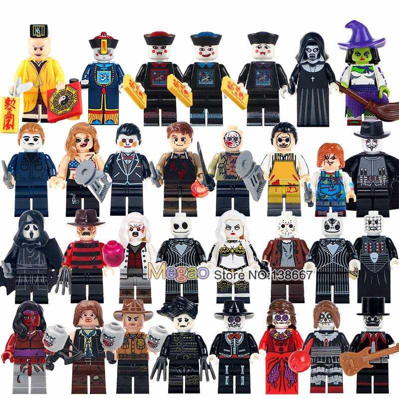 Building Blocks Single Sale The Horror Theme Movie Creepy Doll Dexter Morgan Jason Scream Killer Freddy Krueger Bricks Kids Toys