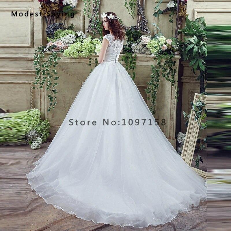 Elegant White Ball Gown Beaded Lace Wedding Dresses 2017 Formal ...
