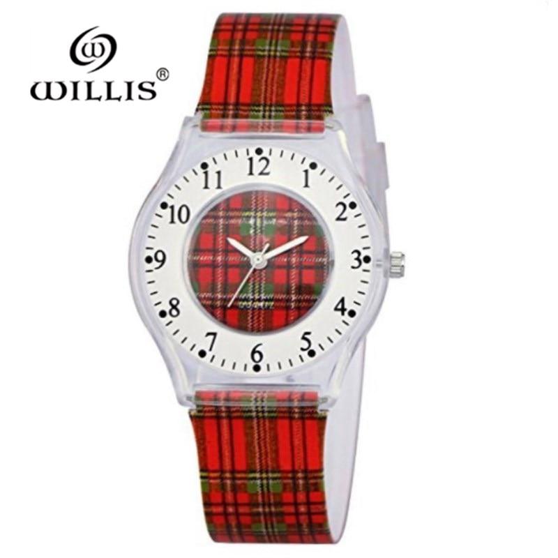 WILLIS Quartz Fashion Women Watch Casual Watch Willis Design Water Resistant Wrist Watch With Slim Silicone Band