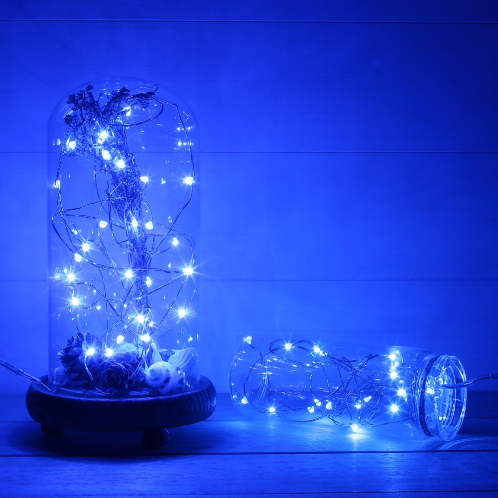 magicnight 10ft 30 blue mini micro led starry lights submersible fairy lights copper led lights strings aa battery powered in holiday lighting from lights