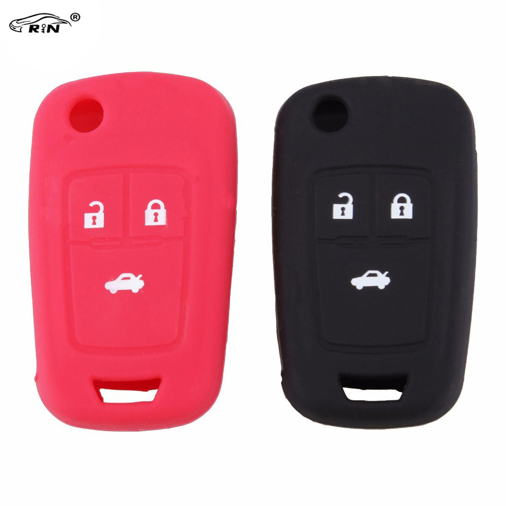 RIN Silicone Car Key Cover For Chevrolet Cruze Malibu Aveo Spark Sail 2010 2011 2012 2013 2014 2015 key shell wljh 11x canbus 2835 smd led dome map interior light kit for chevrolet cruze equinox sonic malibu spark suburban traverse 2015