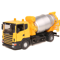 Hot sale 1pc 1:43 19cm delicate engineering cement roller mixer trucks simulation model alloy car home decoration gift toy