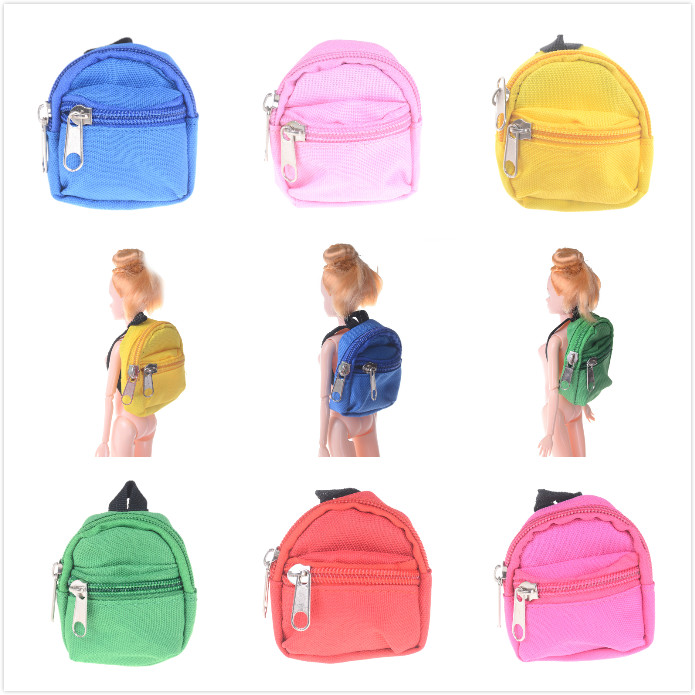 2018 new Mini Dolls Backpack For Barbie Doll For BJD 1/6 blyth doll Bag Accessories Best Gifts цена