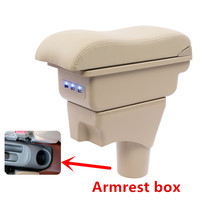 For Nissan Sunny Versa armrest box USB Charging heighten Double layer central Store content cup holder ashtray accessories