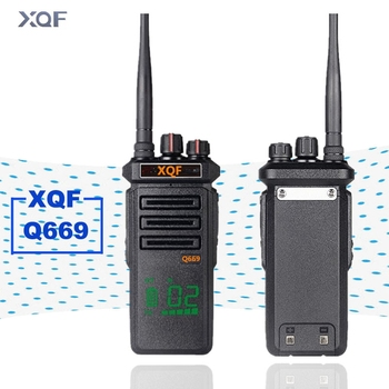 XQF Walkie Talkie Q669 Handheld Interphone 12W High Power 4800MA Lithium Battery for Outdoor Hotel Hunting