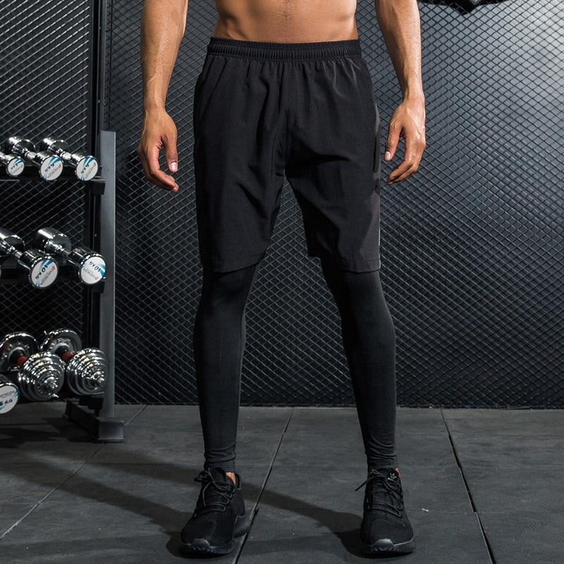 Image result for legging with shorts men
