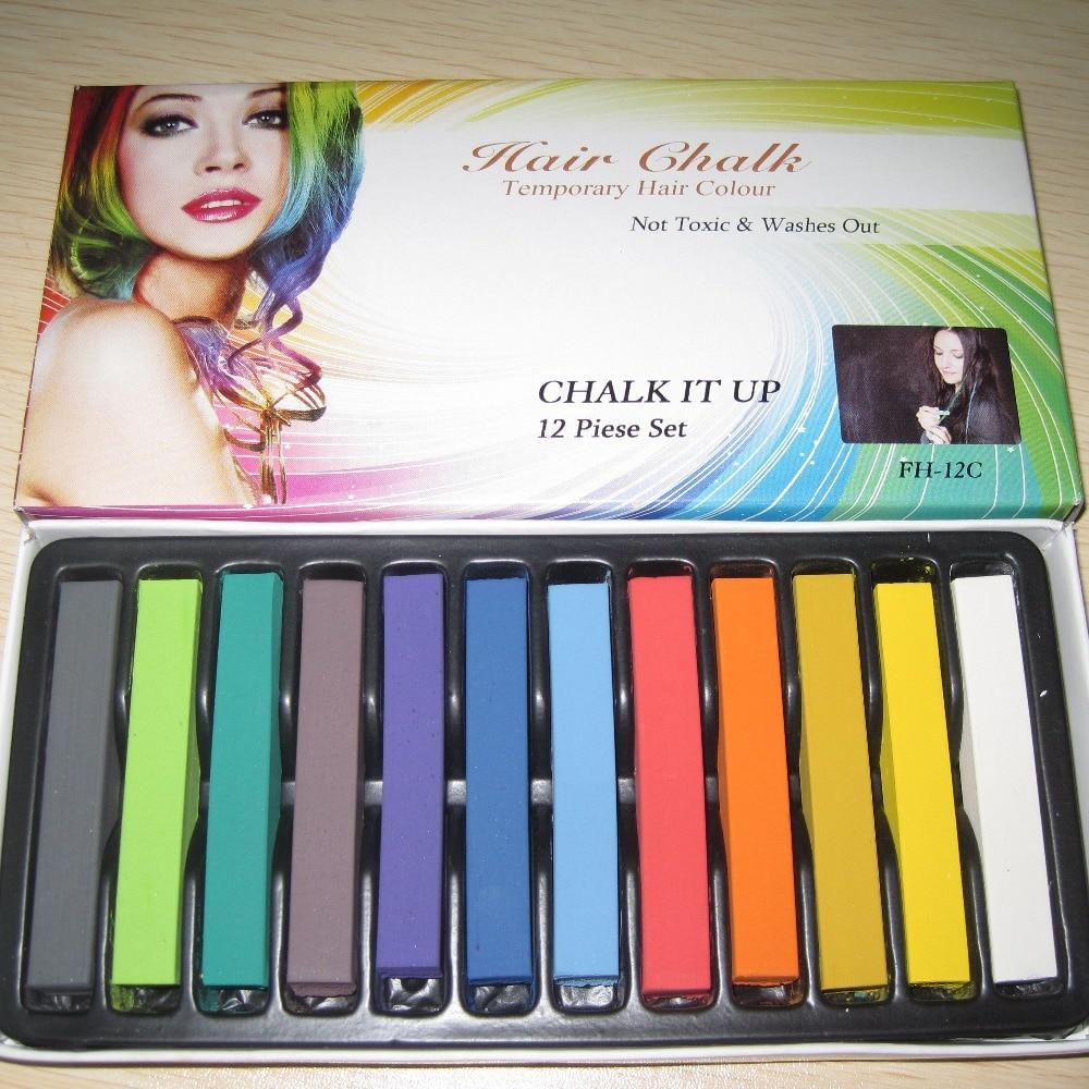 Fashion 4 Colors Pink Blue Fuchsia Green Hair Chalk Set Hair Dye