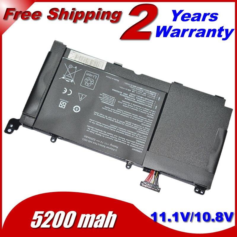 JIGU 5200 мАч ноутбука батарея для ASUS c31-s551 a42-s551 S551 батареи