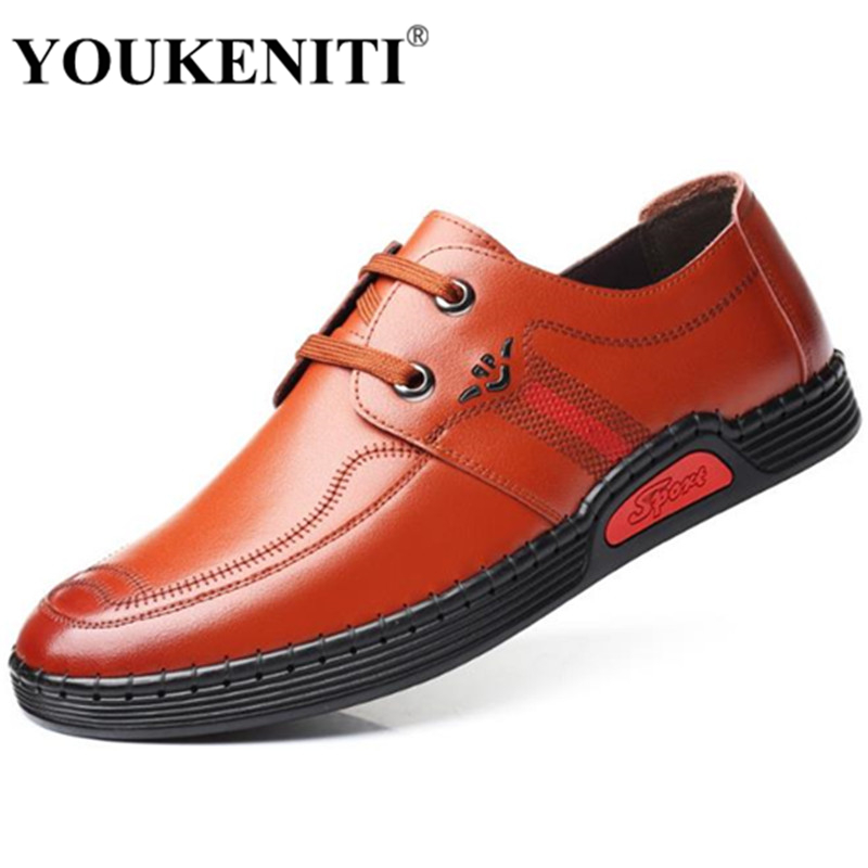 Red Chaussures Casual Up Hommes orange Mode En Zapatos Hombre Cuir Lace De Mocasin Loisirs Black 2018 New Marque FTEPxwRPq