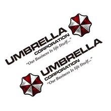 Noizzy 1 пара корпорации Umbrella Resident Evil Ho зомби Авто Наклейка Стикеры винил Светоотражающие боковой двери логотип стайлинга автомобилей