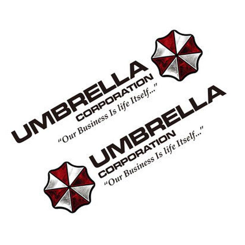 Noizzy 1 paire Umbrella Corporation Resident Evil Ho Zombie Car Auto Decal Sticker Vinyle Réfléchissant Côté Porte Logo Car Styling