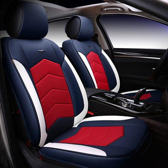 Leather Car Seat Cover Covers Universal For Kia Mohave Niro Optima K5 Picanto Rio