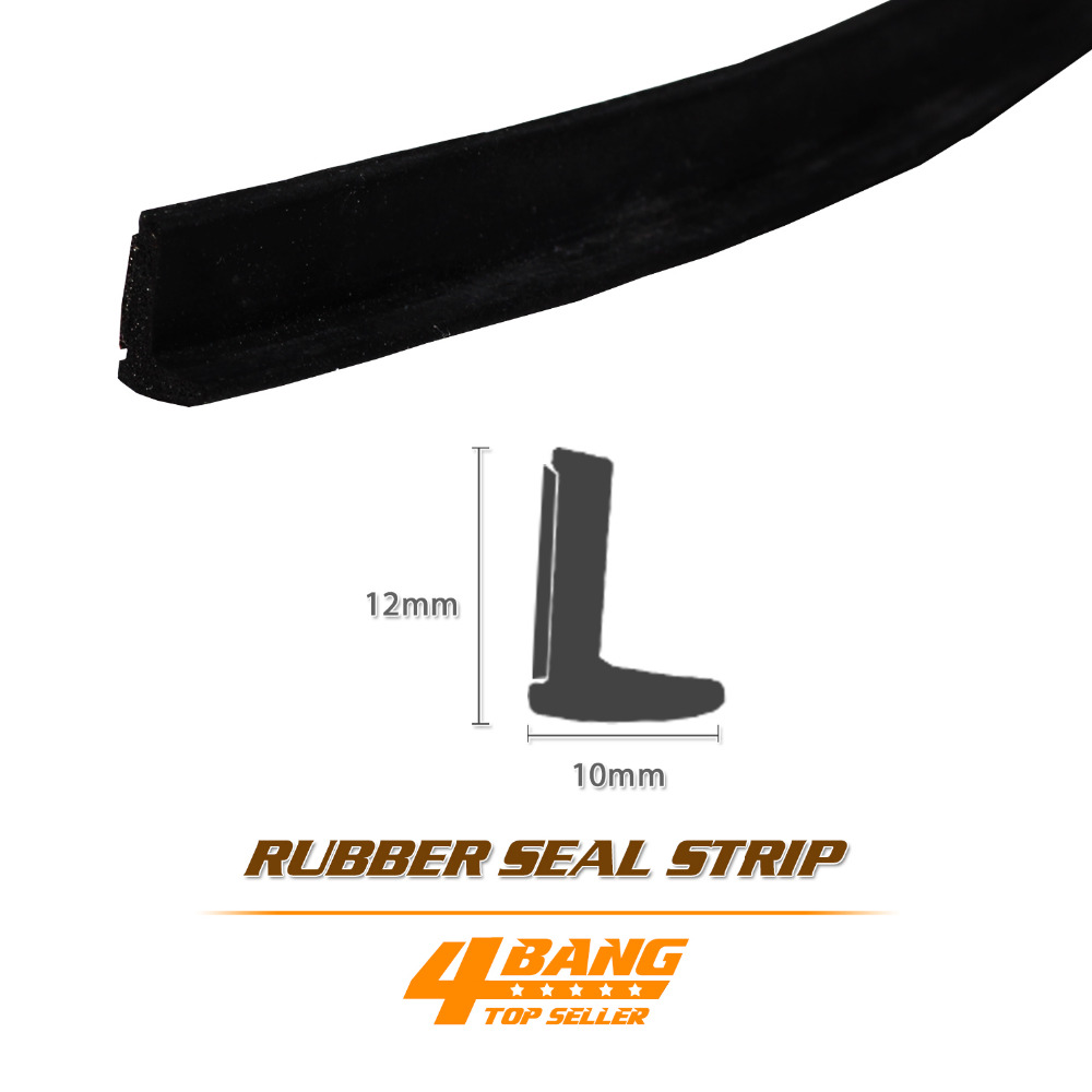 L Shape Rubber Edge Trim Seal sound proofing resistance noise Van Boat Truck Caravan - Door Bonnet Boot Belt Weatherstrip