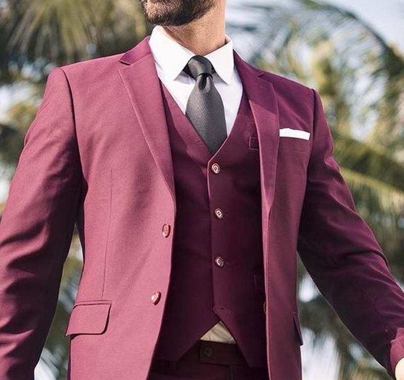 2018-burgundy-wedding-men-suits-notched-lapel