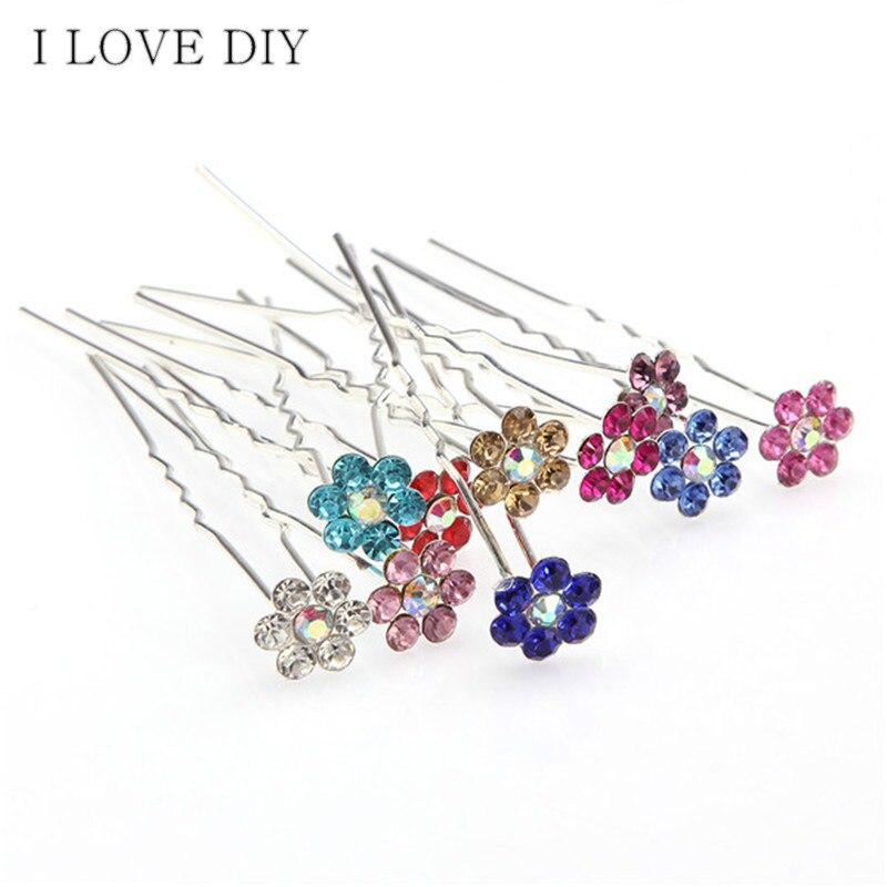 Fashion Bridal Hair Accessories Barrettes Flower  Crystal Rhinestone  Wedding Bridal Hair Pins for Beauty