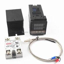Controlador de temperatura Digital REX C100 REX C100, termostato PID + relé SSR 40DA + termopar K RKC 0 900C