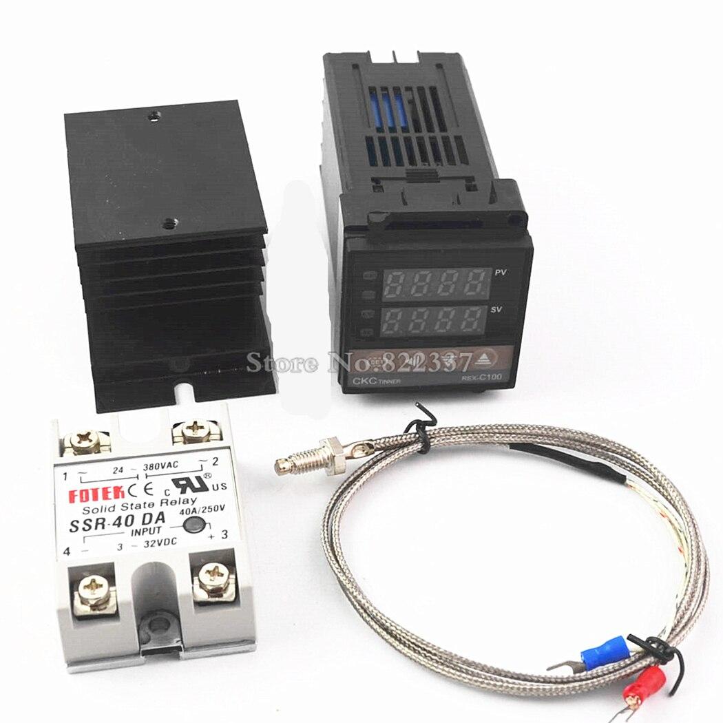 rex-c100 rex c100 + 40da ssr relay thermostat digital pid temperature  controller