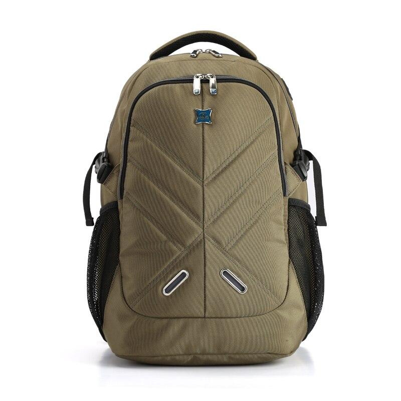 KINGSONS marque sac d'affaires ordinateur portable antichoc sac à dos grande capacité armée vert Nylon sac homme de haute qualité voyage sac à dos